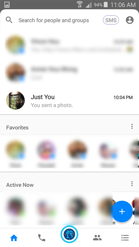 Access the new 2017 fun filters on Facebook Messenger by clicking the 2017 button at bottom.